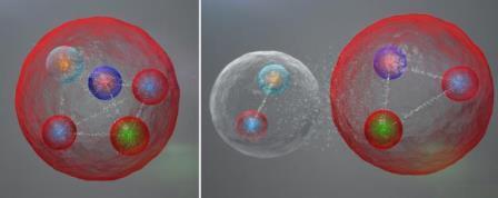 Существование пентакварка предрекали в 1997 году российские физики Дмитрий Дьяконов, Максим Поляков и Виктор Петров