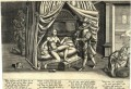 Сатира с аллегорическим обыгрыванием темы пояса верности, 1590 г.