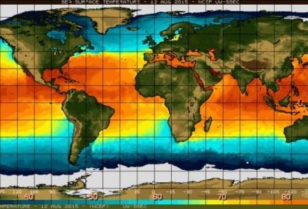Стабильно повышенная температура воды экваториальных областей востока Тихого океана сигнализирует о развитии Эль Ниньо