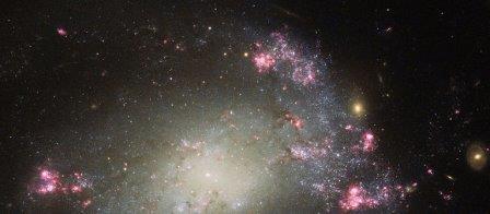 """Изображение """"хаотичной"""" спиральной галактики"""