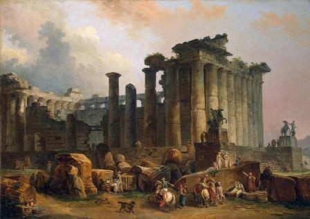 Развалины дорического храма. Гюбер Робер