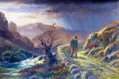 Фрагмент картины Александра Манна «Одинокая дорога»