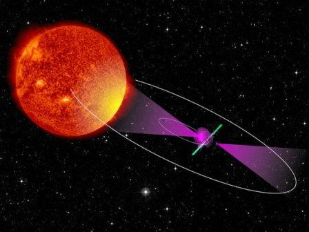 Пульсар позволил точно измерить орбитальный период двойной звезды