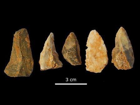 Наконечники копий, найденные в пещере Тейшонес