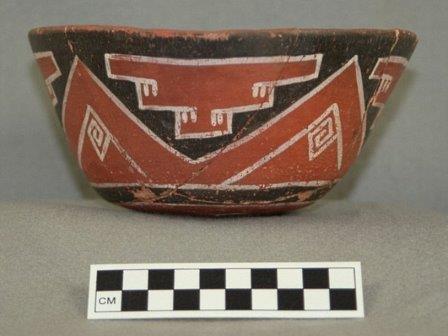 Керамический сосуд для напитка из плодов какао, ок. 750 года н.э.