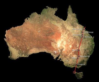 Вулканическая цепь была образована в результате сдвига австралийского континента, начавшегося более 33 млн лет назад