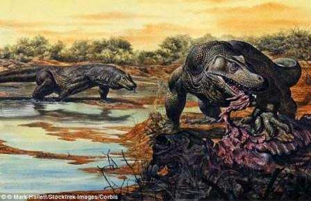 Первых людей в Австралии встречали ящерицы-убийцы