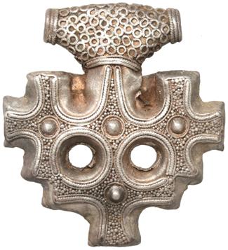 Серебряный крест с острова Омё