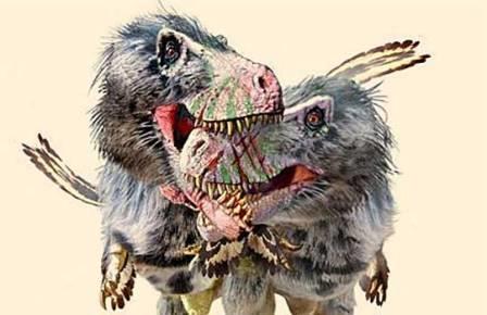 Схватка тираннозавров