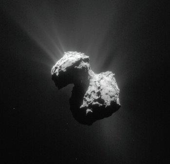 Фотография кометы Чурюмова-Герасименко, полученная «Розеттой» © NASA
