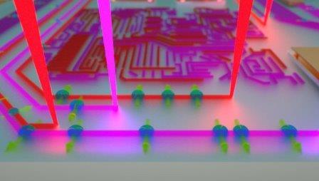 """ак художник представил себе лучи ультрафиолета, """"рисующие"""" транзисторы"""