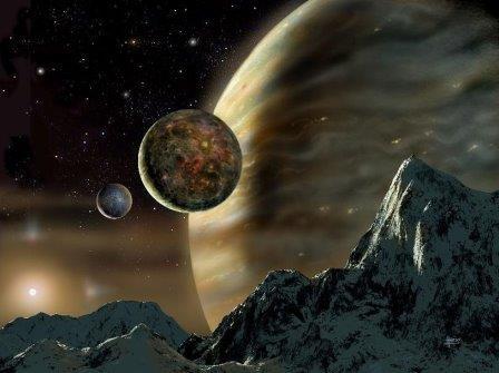 Экзопланета с двумя лунами, обращающаяся вокруг звезды HD 70642
