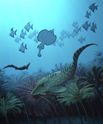 Рыбы времен конца девонского периода