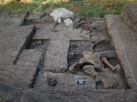 Раскопки на стоянке Маратуса-1