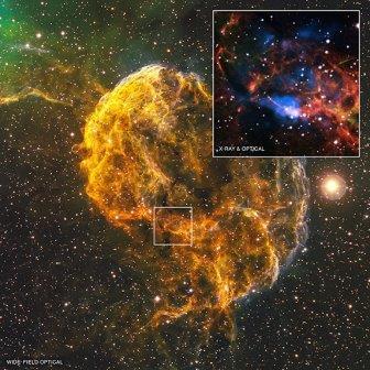 Ученые нашли нейтронную звезду в туманности IC 443 после взрыва сверхновой