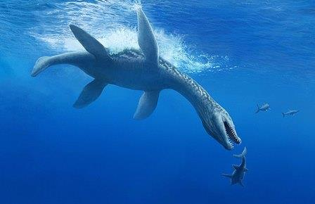 Ромалеозавр атакует молодых ихтиозавров-офтальмозавров