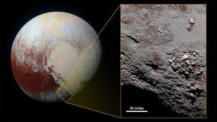 Потенциальный криовулкан на Плутоне