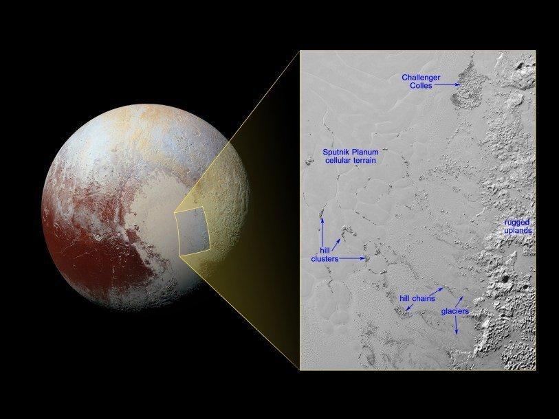 На Плутоне замечены айсберги
