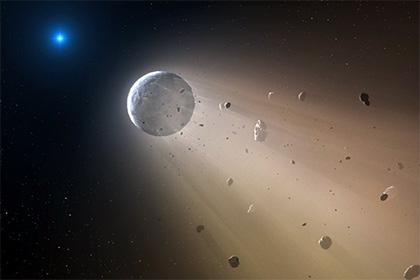 Звезда и обломки планеты