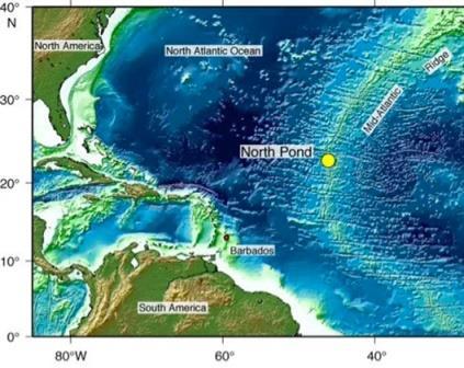 Пруд Северный на западном склоне Срединно-Атлантического хребта.