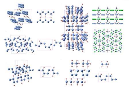 Структуры различных азотоводородов
