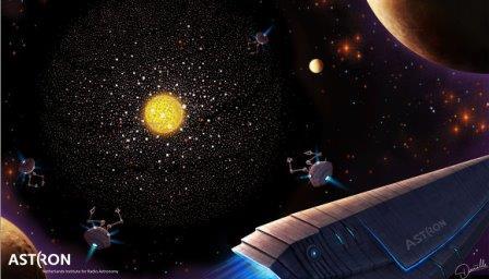 Так художник представил себе галактическую цивилизацию Кардашева III типа, строящую сферу Дайсона