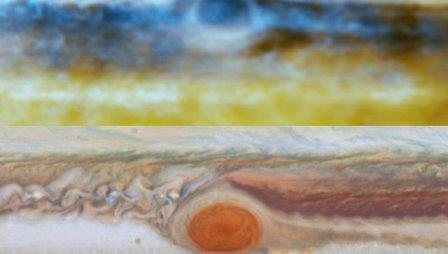 Фотография Юпитера в оптическом и радио - диапазоне