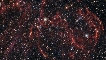 Останки сверхновой DEM L316A в соседней галактике