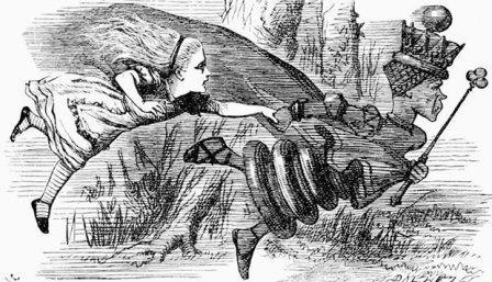 Иллюстрация к сказке Льюиса Кэрролла «Алиса в Зазеркалье»