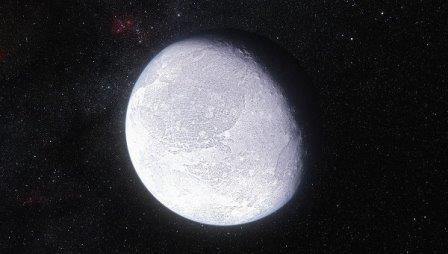 Карликовая планета Эрида глазами художника