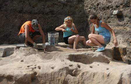 """Изображение """"неведомого зверя"""" с головой птицы обнаружили археологи под Старой Руссой"""