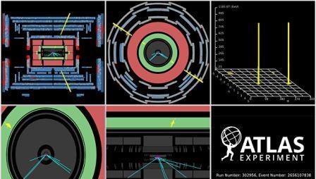 Данные с детектора ATLAS на Большом адронном коллайдере
