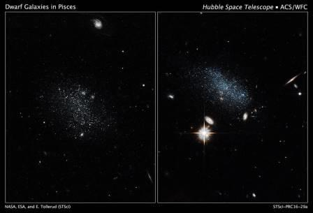 Карликовые галактики в Рыбах
