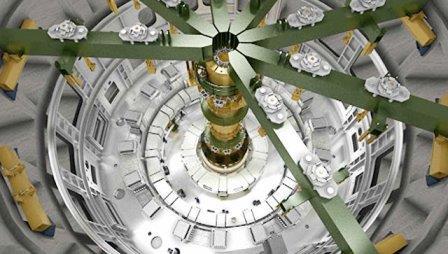 Процесс сборки термоядерного реактора