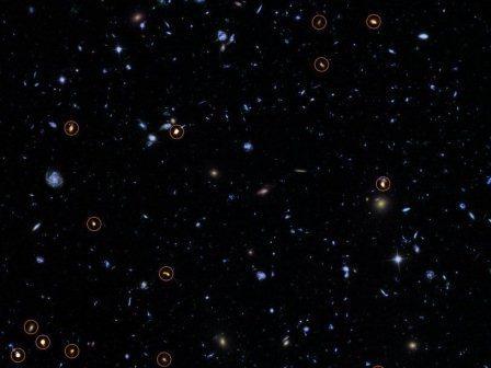 Зондирование сверхглубокого хаббловского поля телескопом ALMA