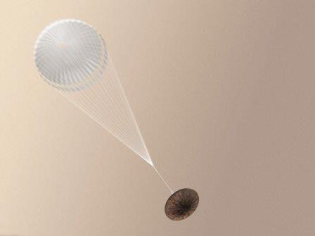 «Скиапарелли» с парашютом