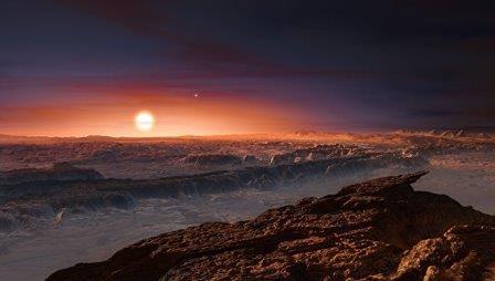 Так художник представил поверхность планеты у Проксимы Центавра
