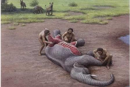 Древние люди делили стол с гигантскими гиенами