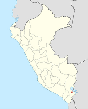 Хискаирумоко на карте Перу