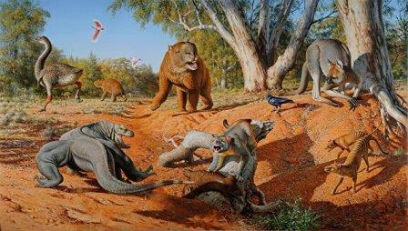 Мегафауна Австралии 50 тысяч лет назад