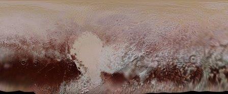 Цветная карта Плутона, подготовленная в НАСА