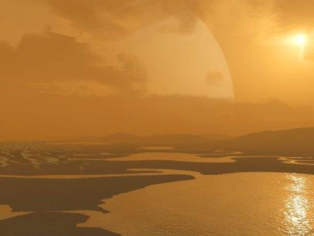 Поверхность Титана в представлении художника