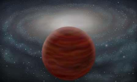Объект SDSS J0104+1535 в представлении художника