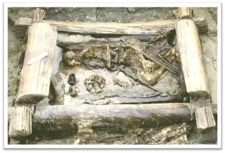 Верх-Кальджин, погребальный комплекс пазырыкской культуры
