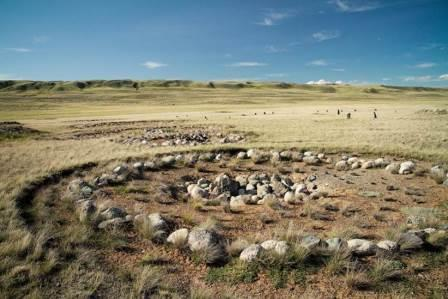 Цепочки пазырыкских курганов Укока