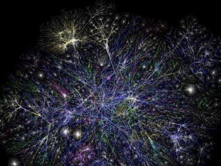 Фрагмент интернета в виде графа, созданный Барретом Лайоном