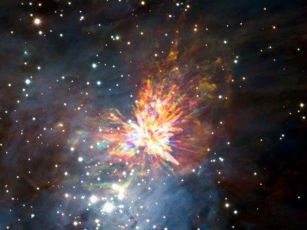 Астрономы увидели звездный фейерверк в созвездии Ориона