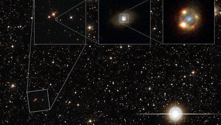 Сверхновая iPTF16geu, увеличенная гравитационной линзой