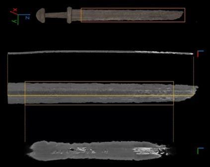 Структура одного из исследованных мечей