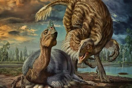 Взрослые особи динозавра Beibeilong